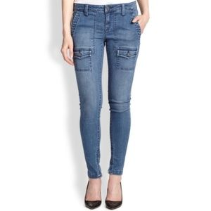 Joie So-Real Skinny Cargo Ankle Zip Jeans